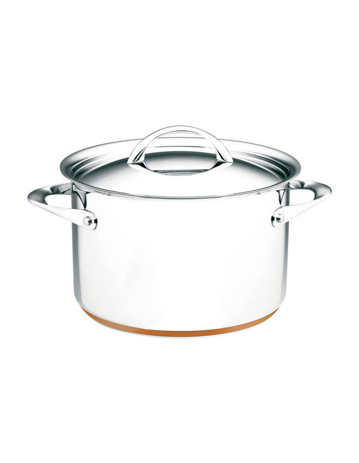 Per Vita Stainless Steel Copper 24cm/7.1L Stockpot: Made in Italy image 1