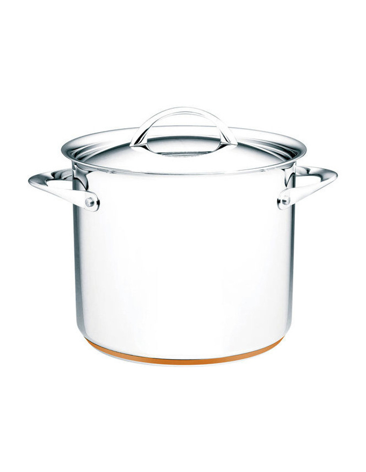 Per Vita Stainless Steel Copper 24cm/9L Stockpot: Made in Italy image 1