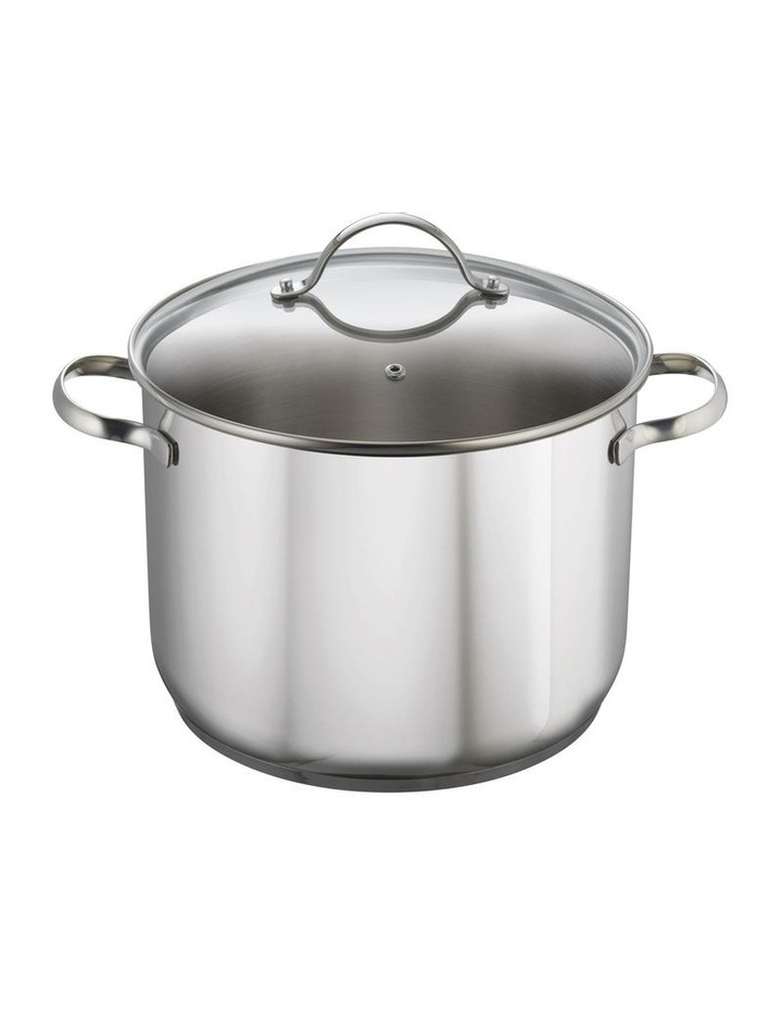 24cm/8L Stainless Steel Stockpot with Lid image 1