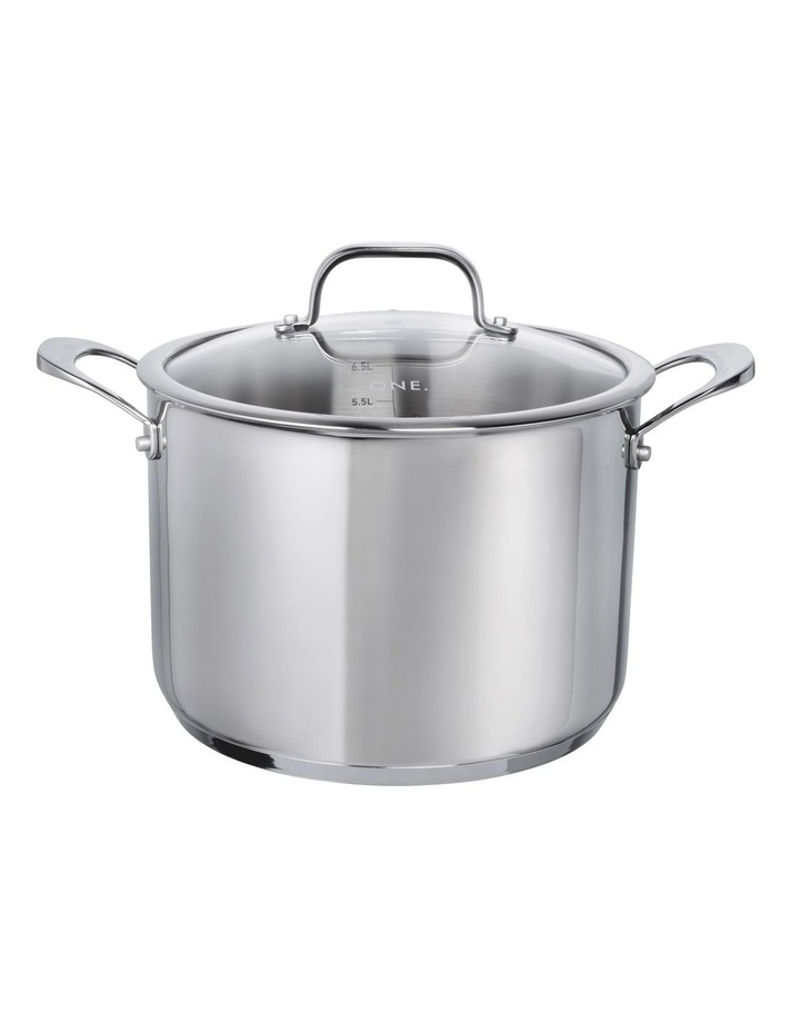 One Stainless Steel 24cm Stockpot With Lid image 1