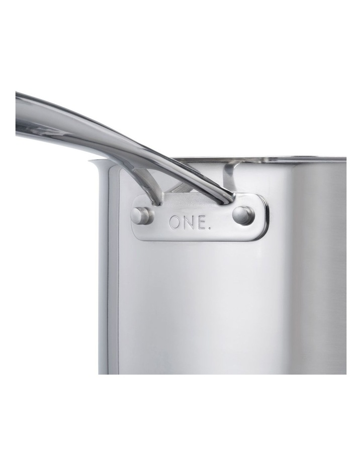 One Stainless Steel 24cm Stockpot With Lid image 2