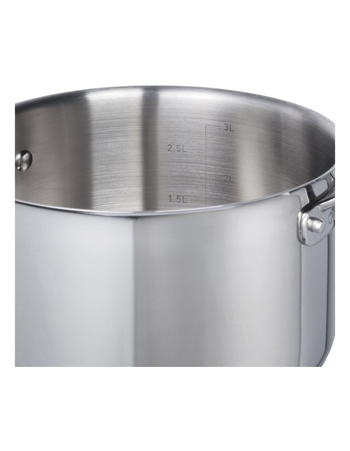 One Stainless Steel 24cm Stockpot With Lid image 3