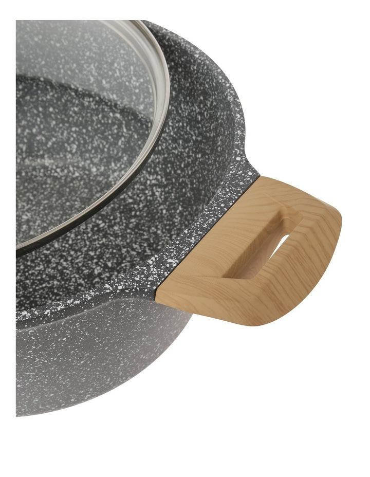 24cm Black Soft Touch Casserole W Lid image 2