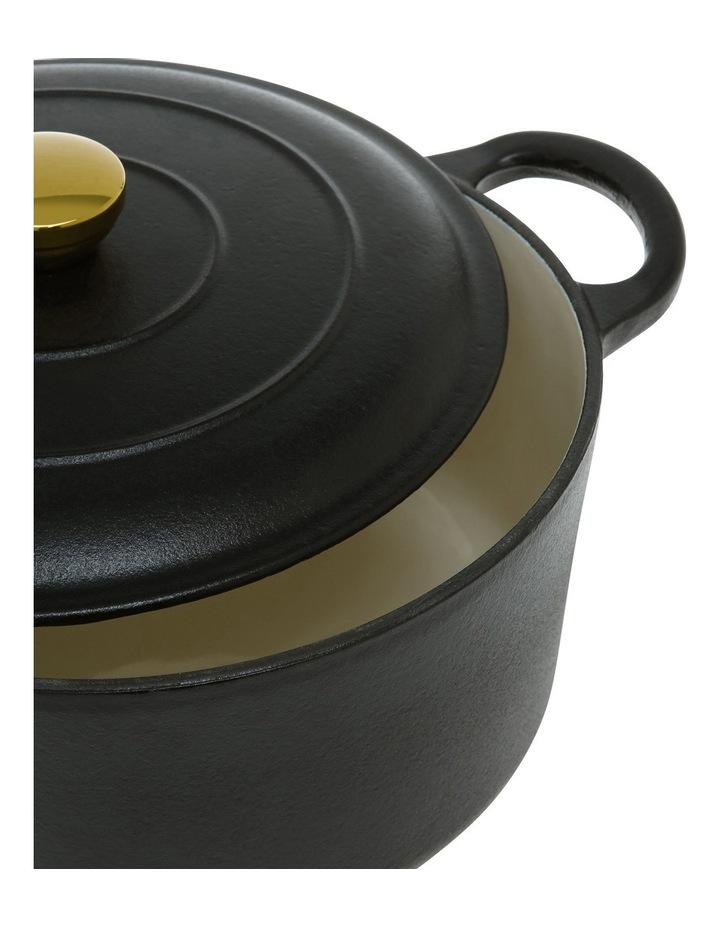 23cm Cast Iron Casserole Black W Gold Knob image 2