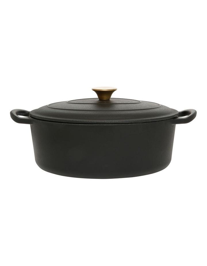 Cast Iron Casserole Black with Gold Knob 30cm/4.2L image 1
