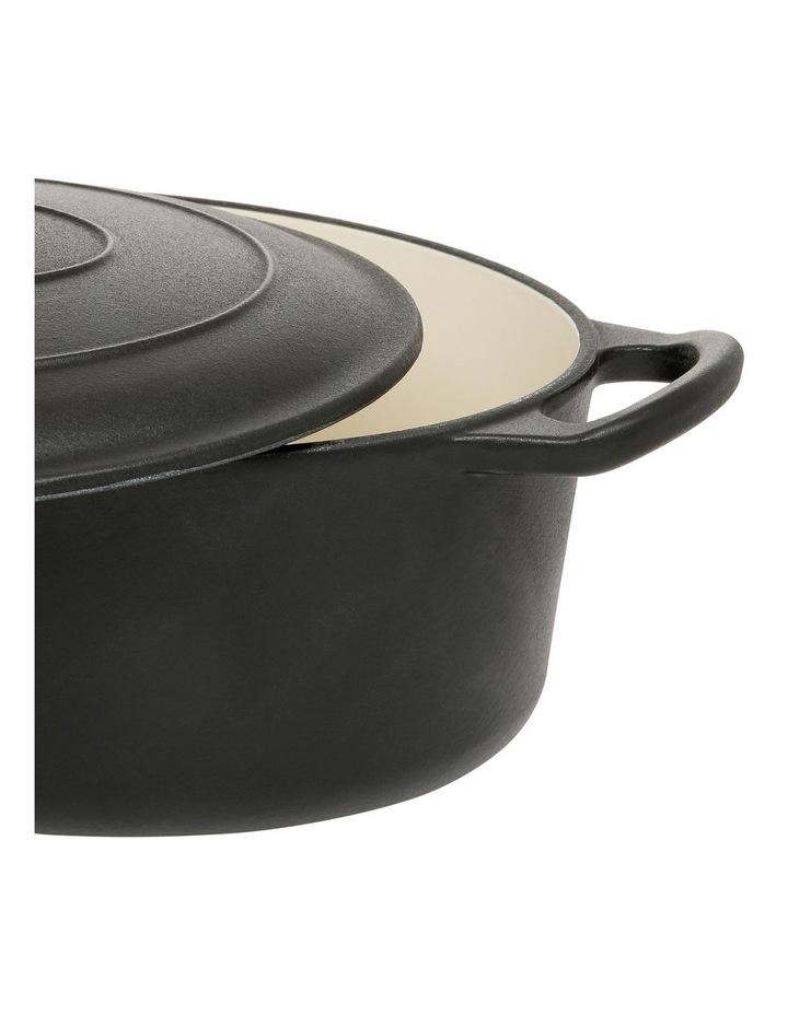 Cast Iron Casserole Black with Gold Knob 30cm/4.2L image 2