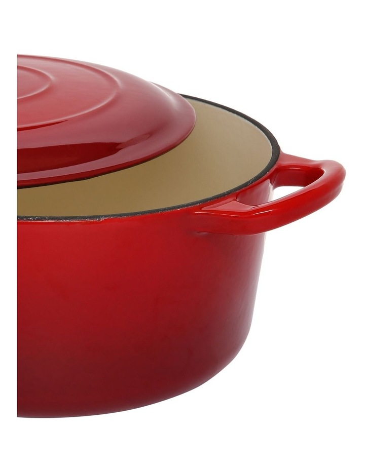 Cast Iron Casserole Red with Gold Knob 23cm/3.3L image 2