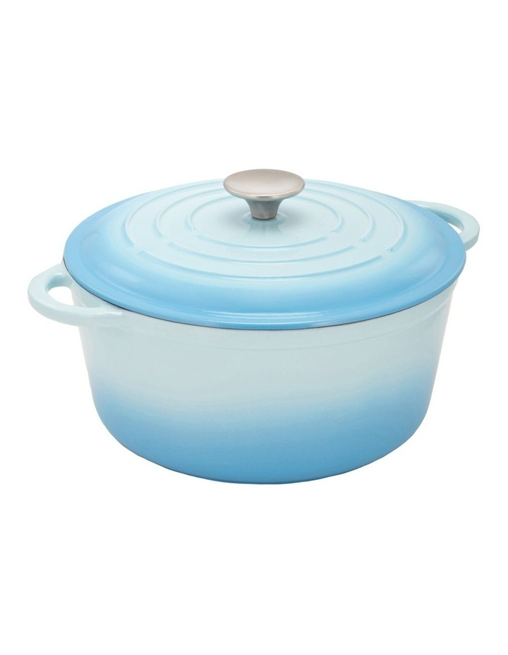25cm Cast Iron Casserole With Lid in Blue image 1