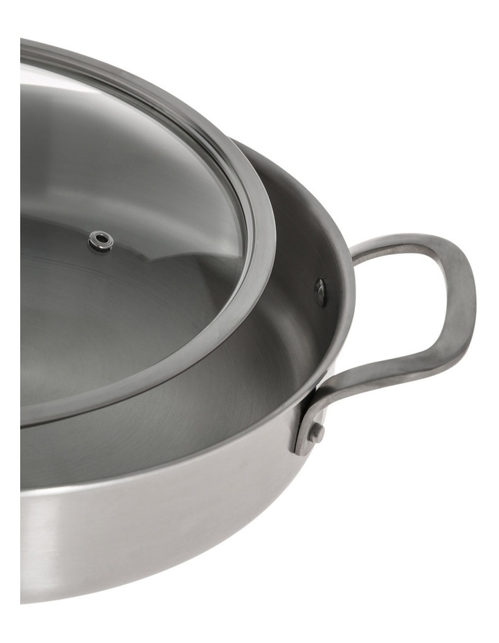 Ultima 3 Triply Stainless Steel Sauteuse, 28cm/3.6L image 2