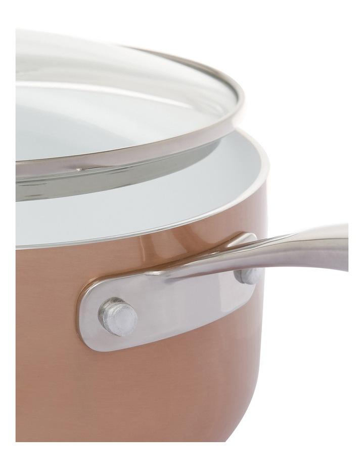 18cm Aluminium White Ceramic Coating Saucepan W Lid image 2