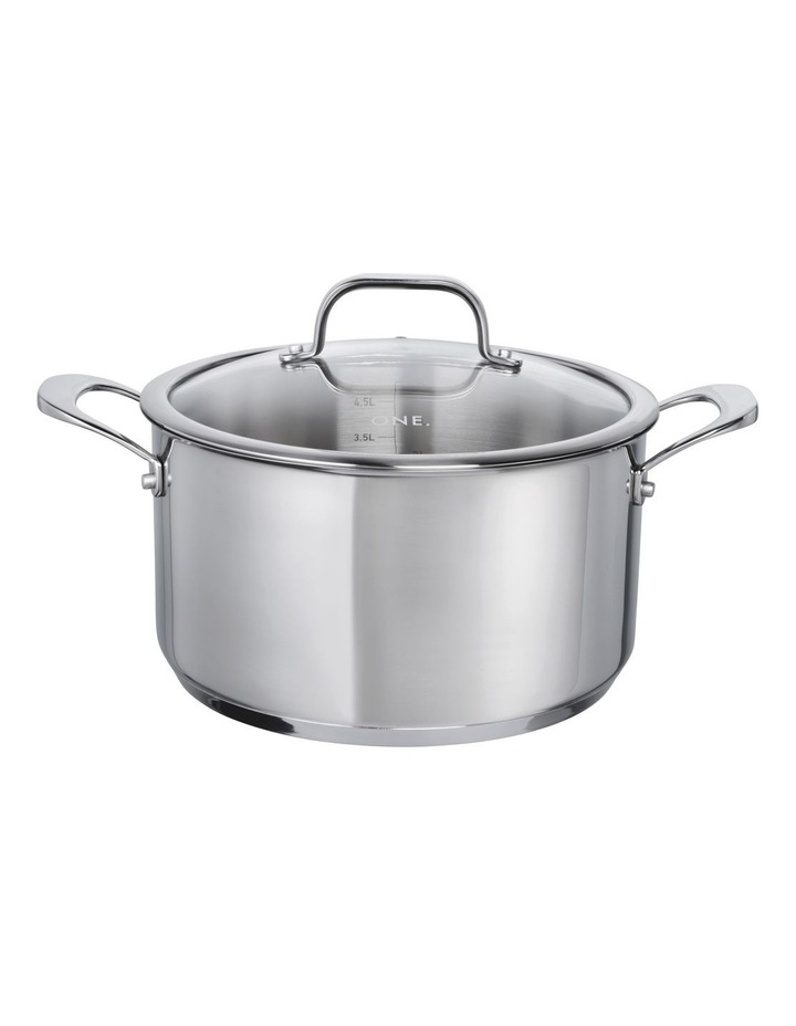 One Stainless Steel 24cm Casserole With Lid image 1