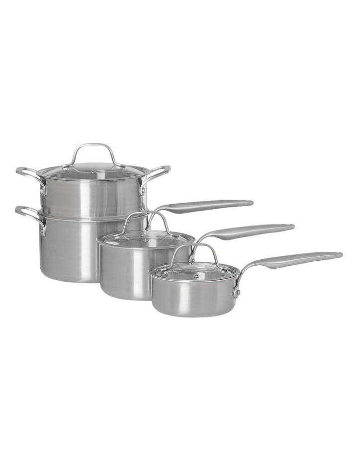 Ultima 3 Triply Stainless Steel 4 Piece Saucepan Set image 1