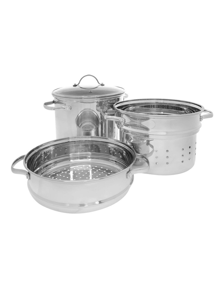 Stainless Steel 4 Piece Multi Cooker Set 8L image 2