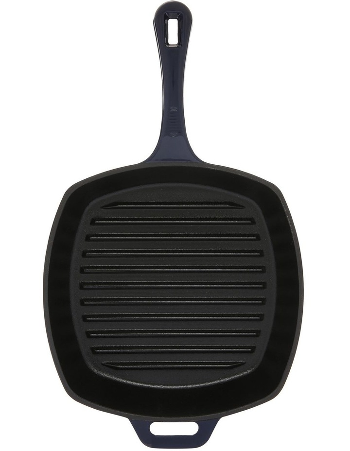 Navy Cast Iron Square Grill Pan 25cm image 1
