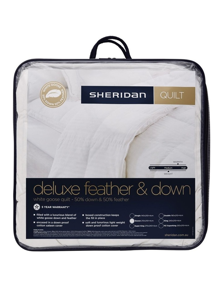 Deluxe 50/50 Goose Feather & Down Quilt image 1