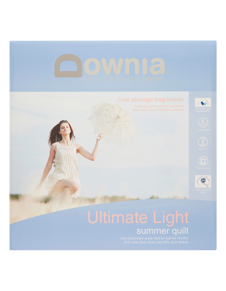 Ultimate Light Summer 50/50 White Duck Down & Feather Quilt image 1