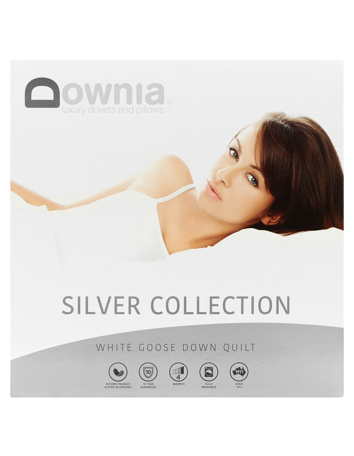 Silver Collection 85/15 White Goose Down & Feather Pillow image 1