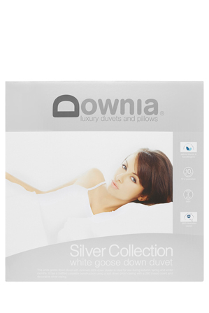 Downia - 'Silver Collection' 85/15 White Goose Down & Feather Quilt