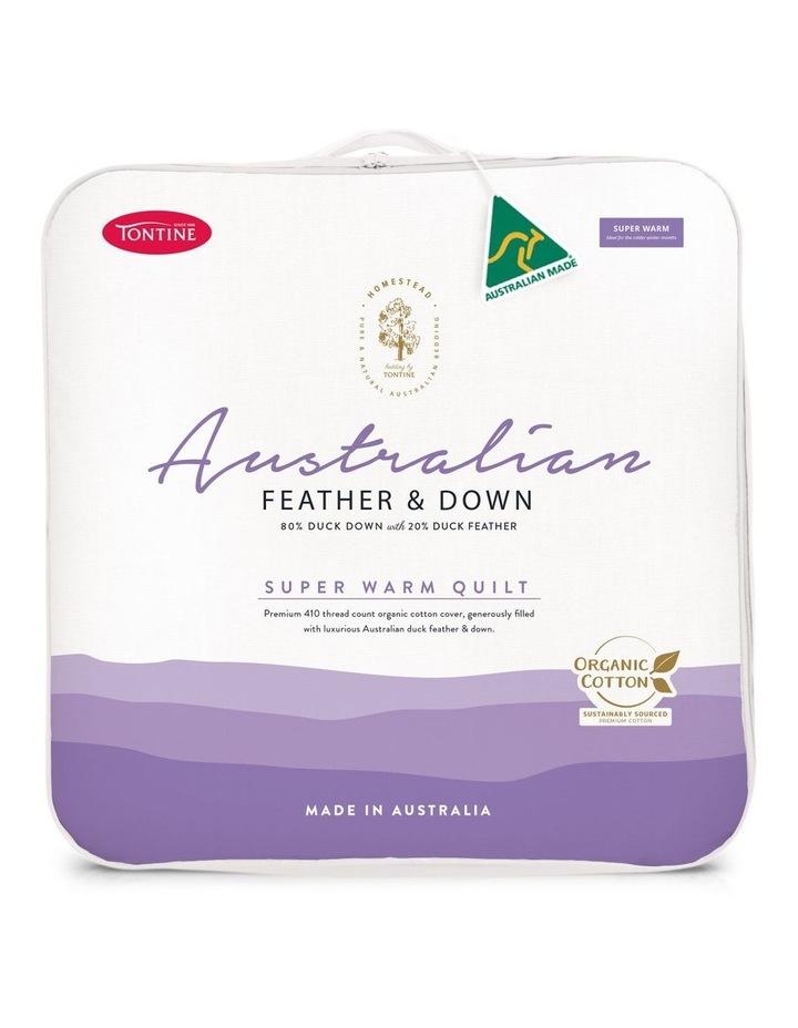 Homestead Australian Feather & Down Super Warm Quilt image 1