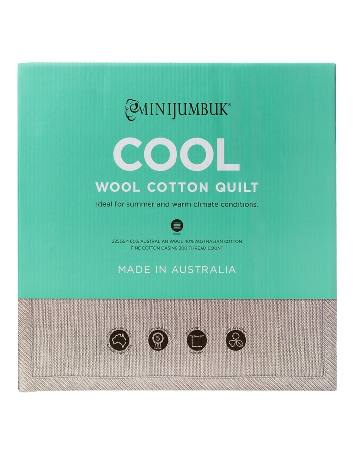Cool Wool/Cotton Quilt image 1