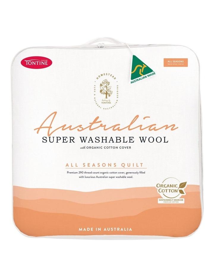 Homestead Australian Super Washable Wool All Seasons Quilt image 1