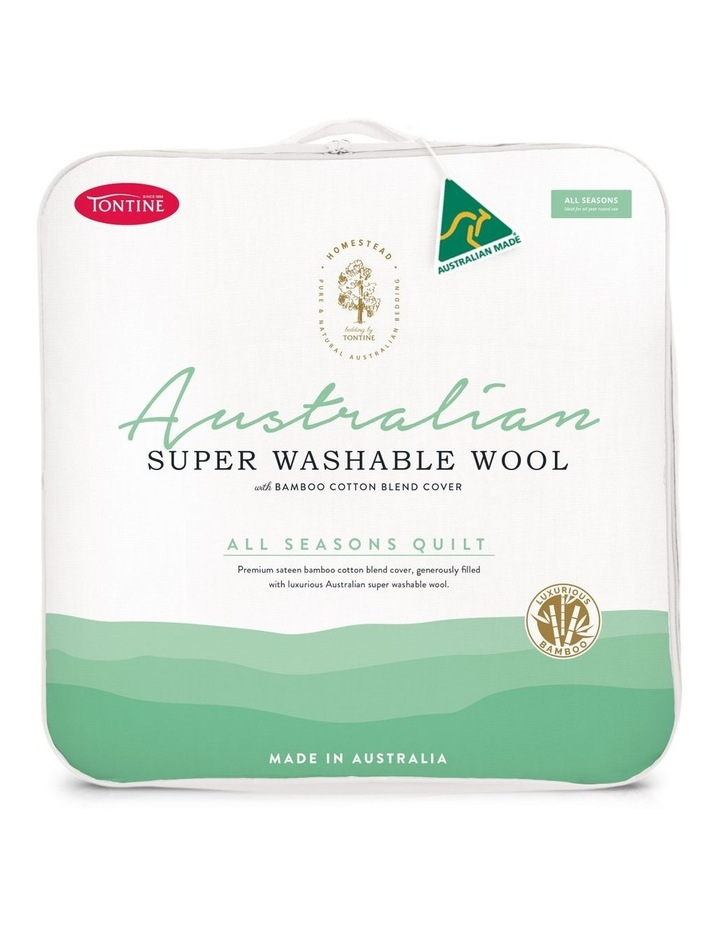 Homestead Australian Super Wash Wool Quilt with Bamboo image 1