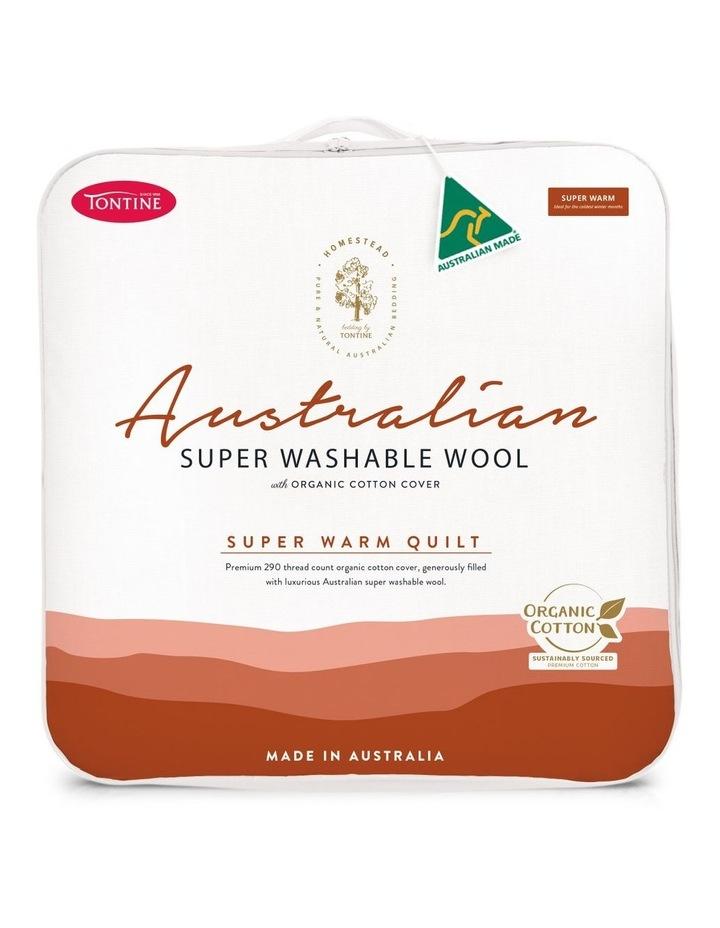 Homestead Australian Super Washable Wool Super Warm Quilt image 1