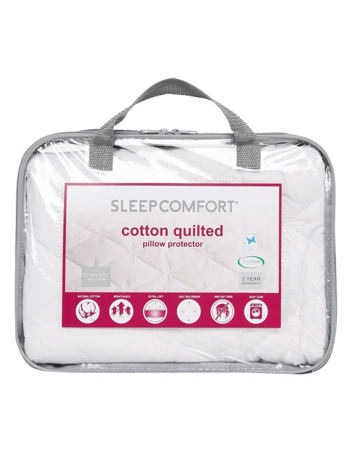 Quilted Cotton Pillow Protector Standard image 1