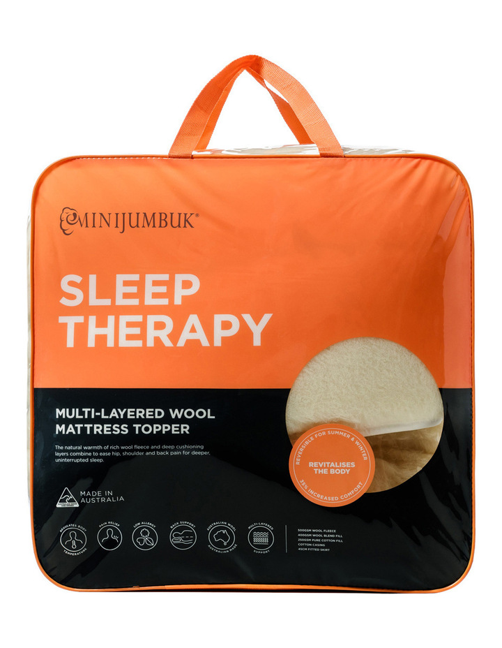 Mini Jumbuk Sleep Therapy Wool Mattress Topper Myer