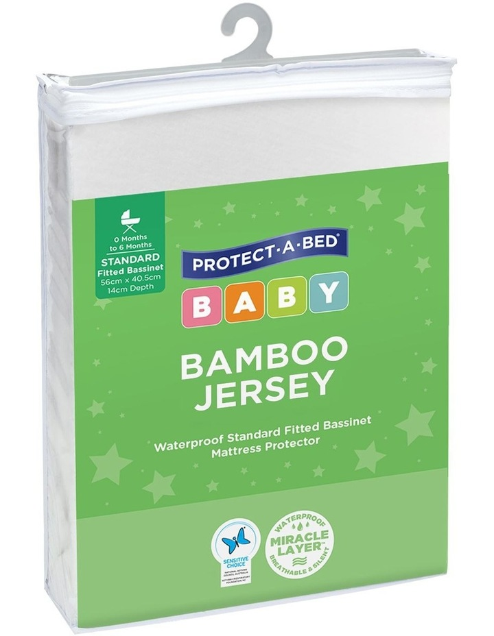 Bamboo Jersey Fitted Cot Mattress Protector image 1