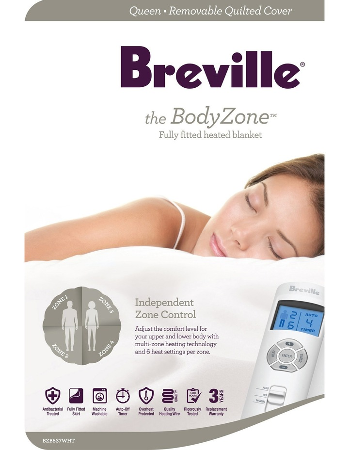 BodyZone Quilted Fitted Electric Heated Blanket image 1