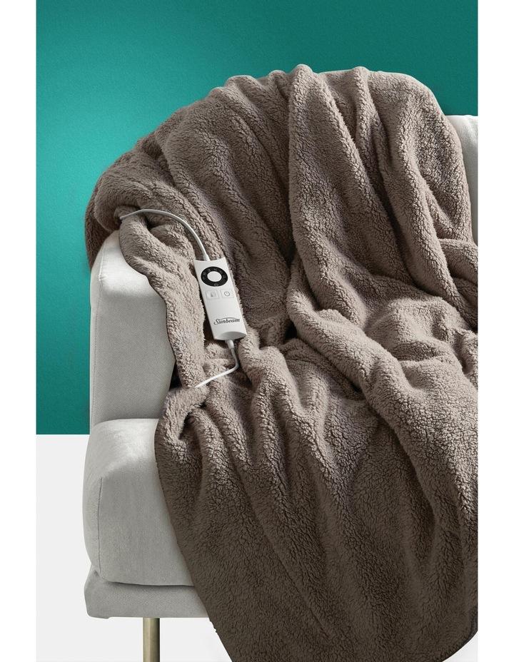 Feel Perfect Cosy Sherpa Fleece Heated Throw image 2