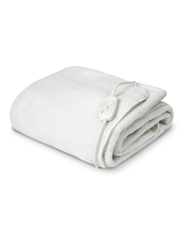 Sherpa Electric Blanket in White image 2