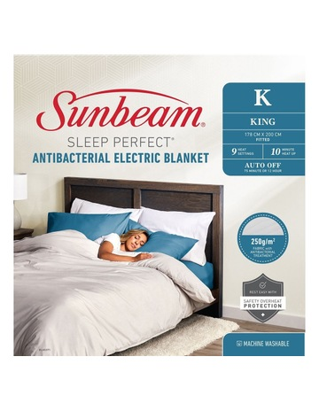 Electric Blankets Heated, Sunbeam Sleep Perfect Quilted Electric Blanket Queen Bed Bl5451