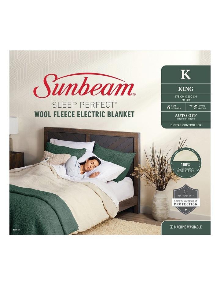 Sunbeam Sleep Perfect Wool Fleece Electric Blankets image 1