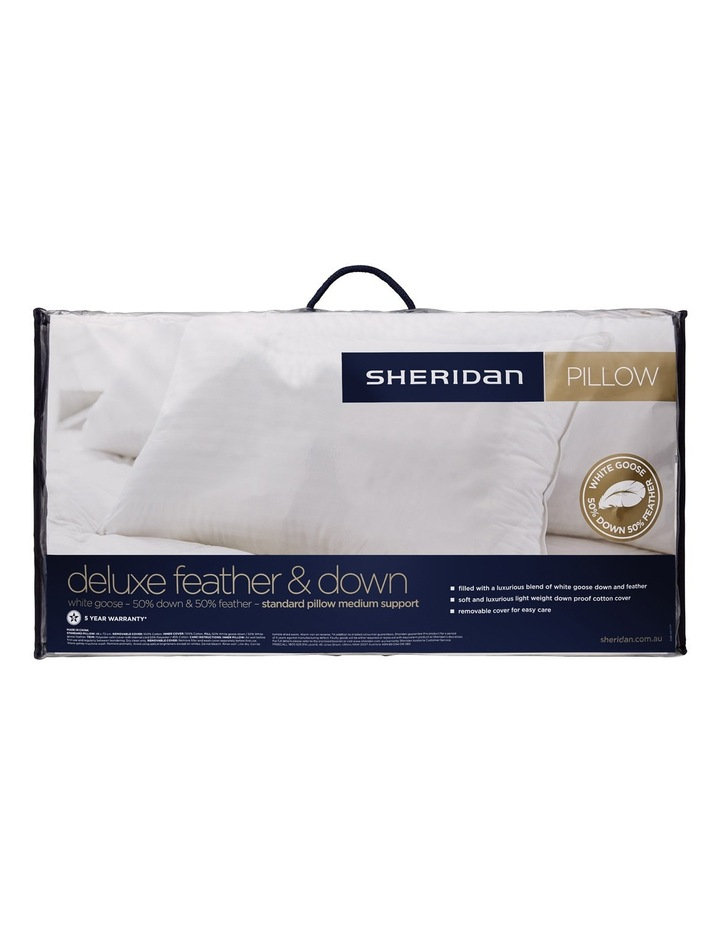 Deluxe 50/50 Goose Feather & Down Pillow image 1