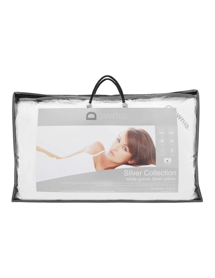 Silver Collection 85% White Goose Down & Feather Pillow  Soft image 1