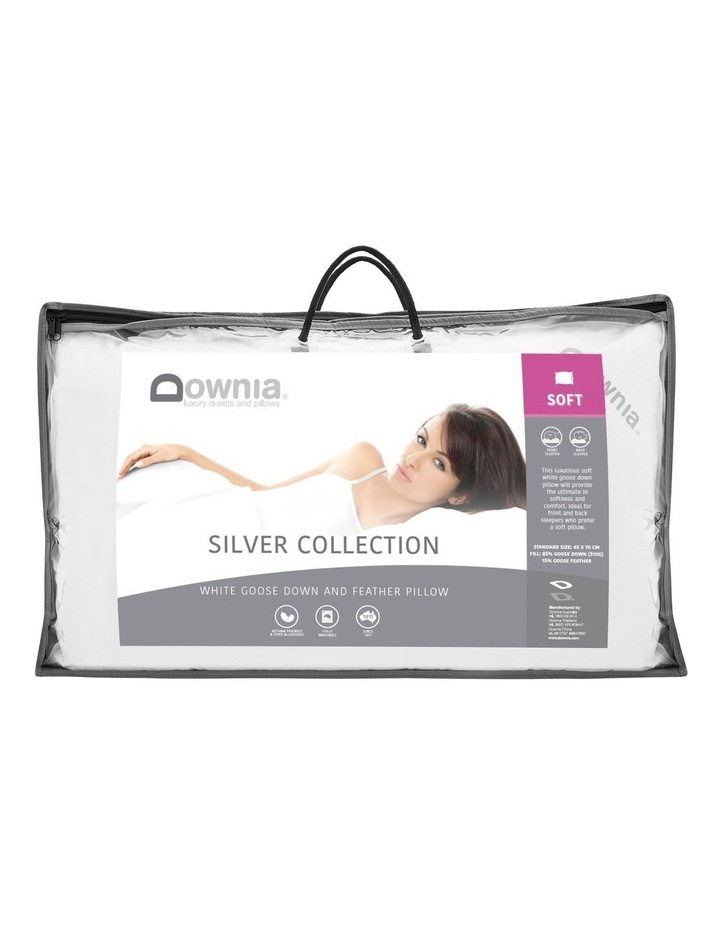 Silver Collection 85% White Goose Down & Feather Soft Pillow image 1