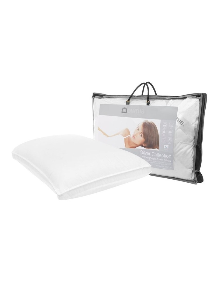 Silver Collection 85% White Goose Down & Feather Pillow  Soft image 2