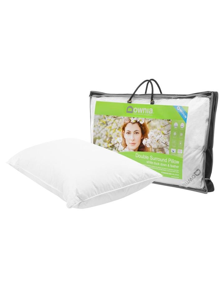Downia Double Surround White Duck Down & Feather Pillow - Medium image 2