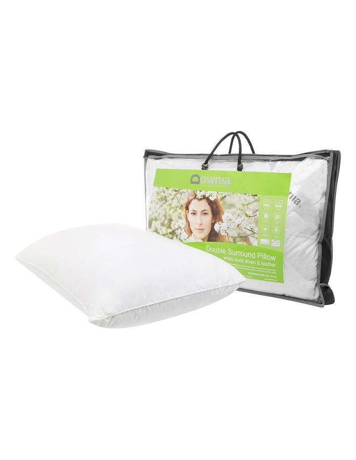 Double Surround White Duck Down & Feather Pillow image 2