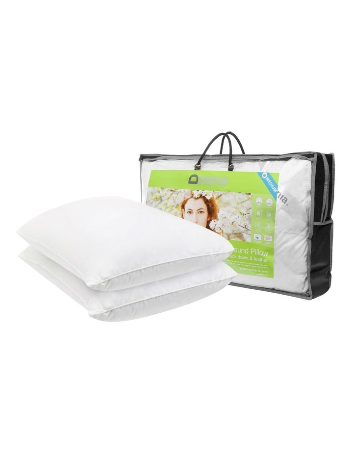 Downia Double Down Surround White Duck Down & Feather Pillows Medium  2 Pack image 2
