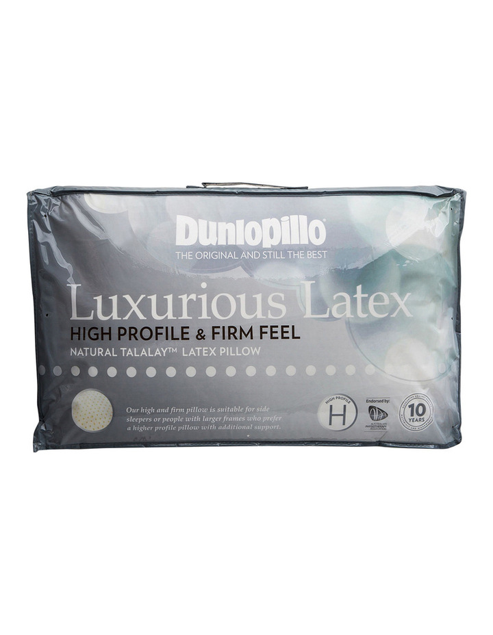 Latex High Profile Pillow in Firm Feel image 1