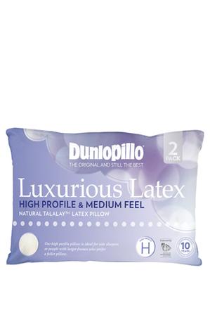 Dunlopillo - Talalay Latex Pillow:High:Medium 2 Pack