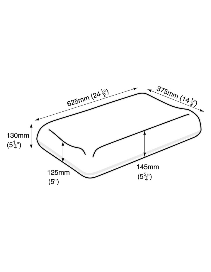 Contoured Foam Pillow in High Profile image 2