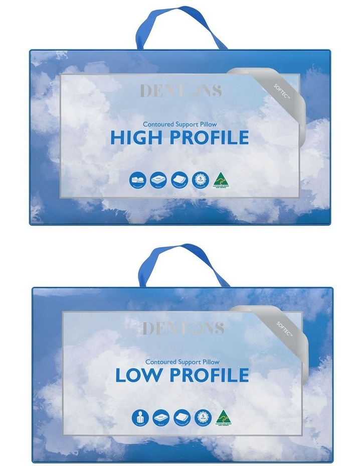 Contoured High & Low Profile Pillow image 1