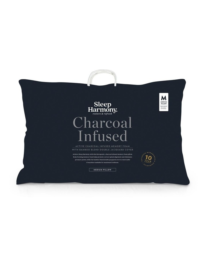 Charcoal Infused Memory Foam Pillow image 1