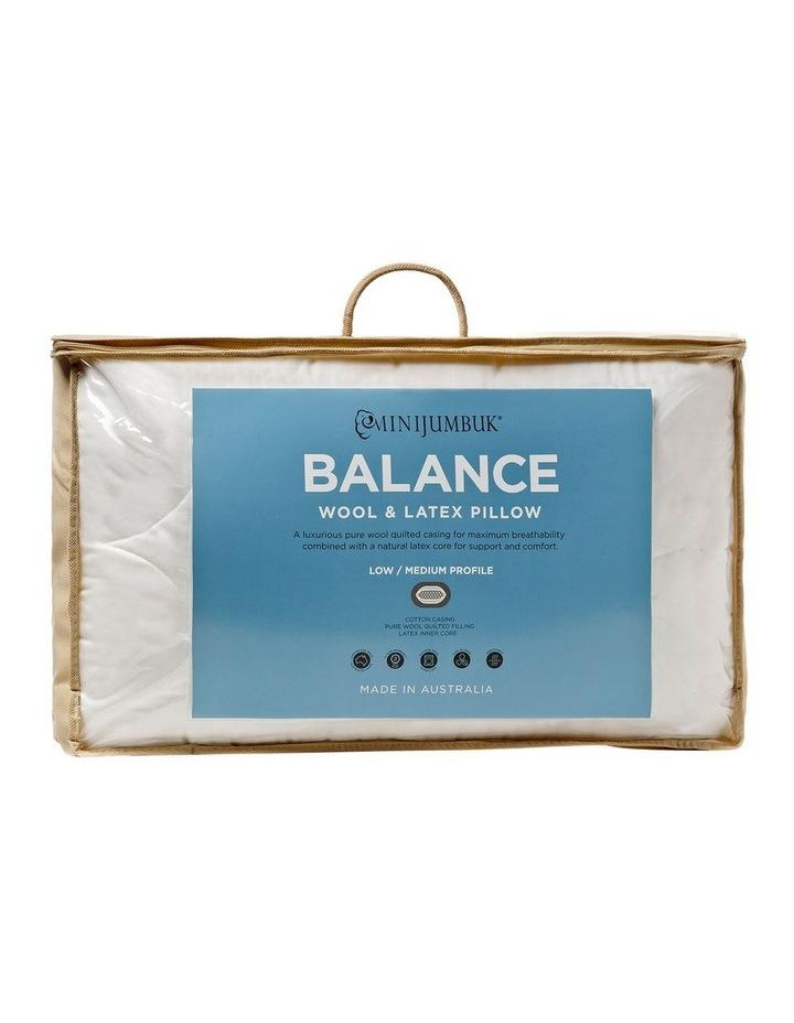 MiniJumbuk Balance Wool & Latex Pillow: Low/Med image 1