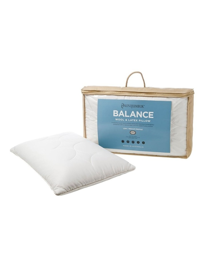 MiniJumbuk Balance Wool & Latex Pillow: Low/Med image 6