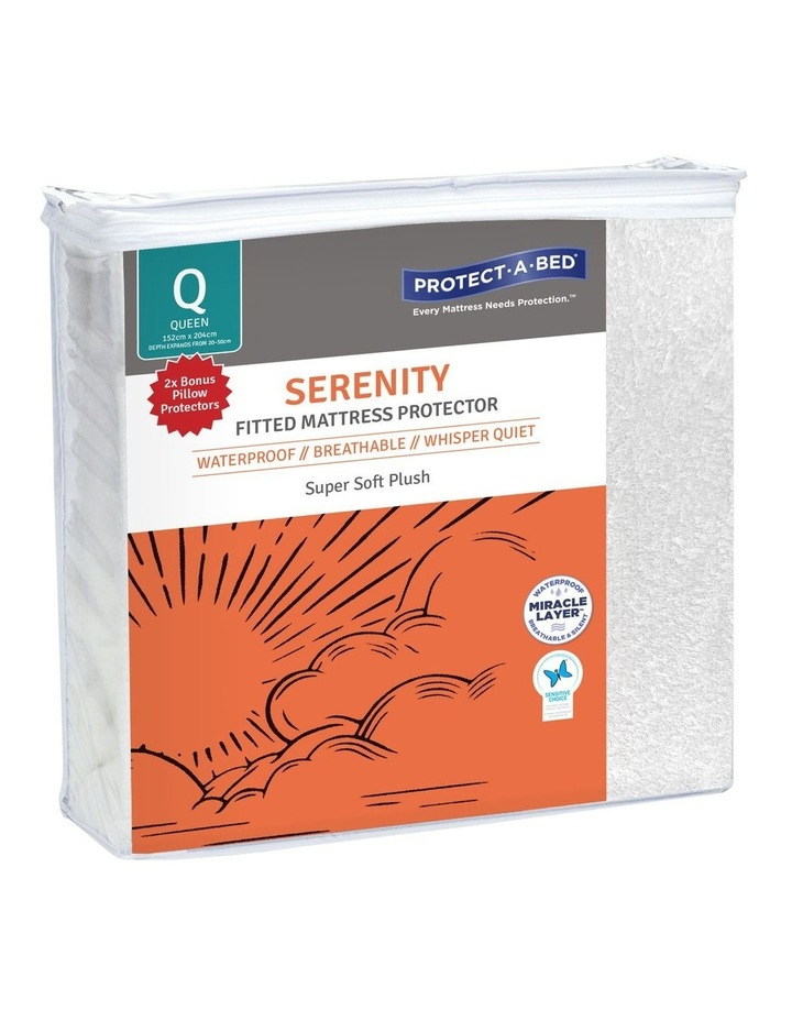 Serenity Waterproof Fitted Mattress Protector with Bonus Pillow Protector image 1